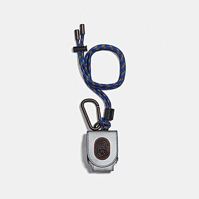 WIRELESS EARBUD CASE WITH COACH PATCH