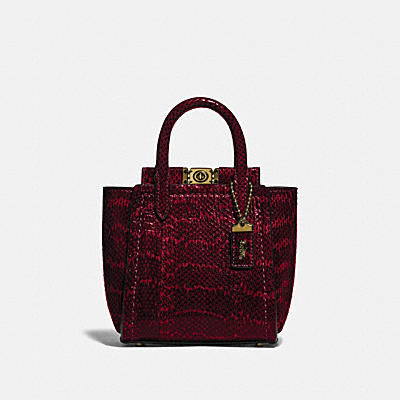 TROUPE TOTE 16 IN SNAKESKIN