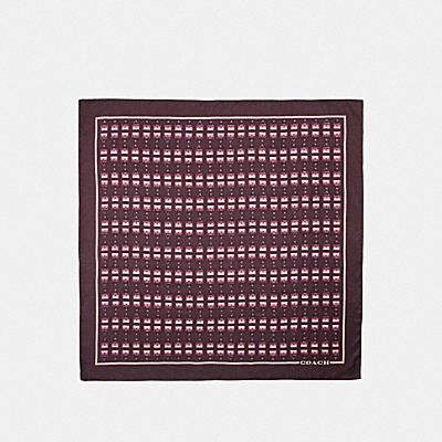 アーカイバル プリント シルク スクエア スカーフ