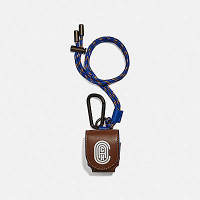 WIRELESS EARBUD CASE WITH REFLECTIVE COACH PATCH