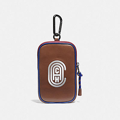 HYBRID POUCH 10 IN COLORBLOCK WITH REFLECTIVE COACH PATCH