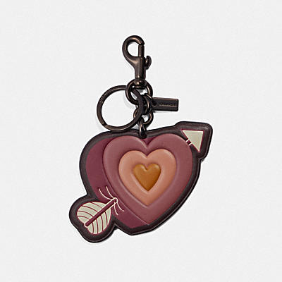 HEART AND ARROW BAG CHARM