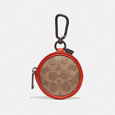 ROUND ZIP CASE IN SIGNATURE CANVAS