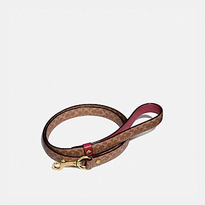 コーチ COACHの全ての財布&革小物 |ラージ ペット リーシュ シグネチャー キャンバス