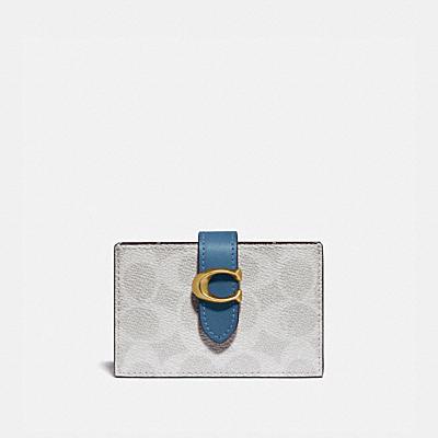 コーチ COACHの財布&革小物 |アコーディオン カード ケース ブロック シグネチャー キャンバス