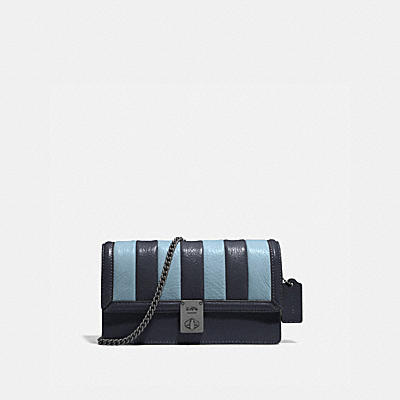HUTTON CLUTCH WITH COLORBLOCK QUILTING