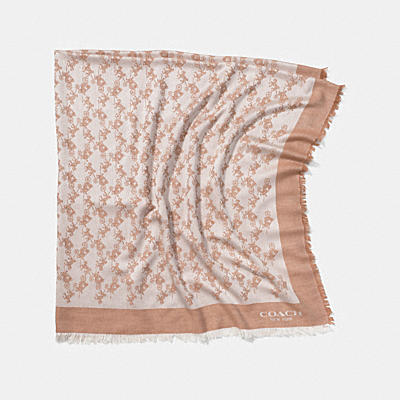 HORSE AND CARRIAGE OVERSIZED SQUARE SCARF