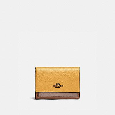 コーチ COACHの財布&革小物 |ミディアム フラップ ウォレット カラーブロック