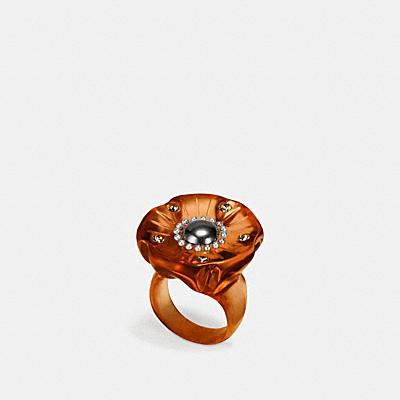 茶香玫瑰戒指