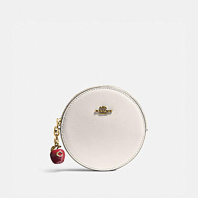 ROUND COIN CASE WITH APPLE