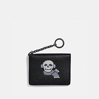 KEY RING CARD CASE WITH BONESY