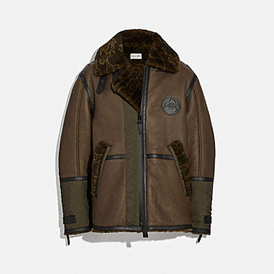 COACH X MBJ SHEARLING AVIATOR JACKET