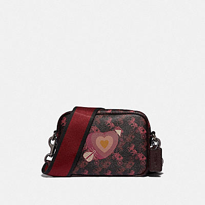 CAMERA BAG 16 WITH HORSE AND CARRIAGE PRINT AND HEART