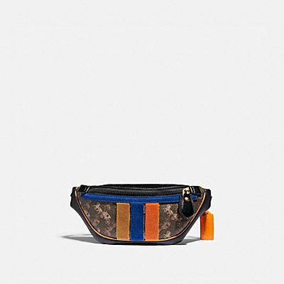 RIVINGTON BELT BAG 7 WITH HORSE AND CARRIAGE PRINT AND VARSITY STRIPE