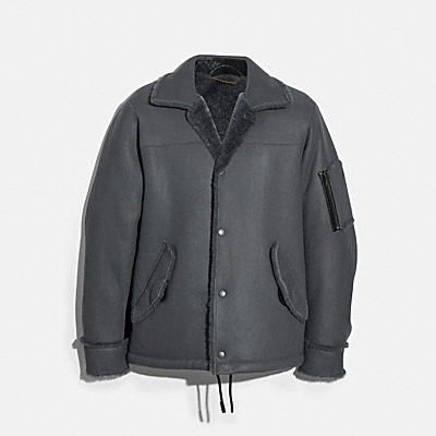 SHEARLING SNAP FRONT JACKET