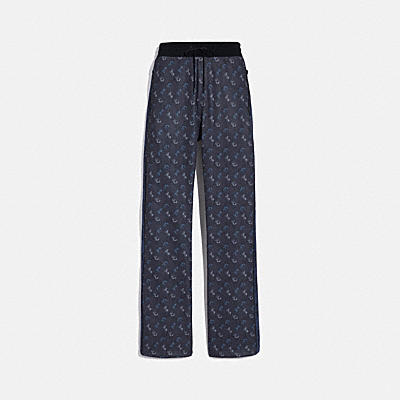 HORSE AND CARRIAGE PRINT TRACK PANTS