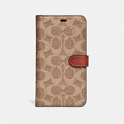 コーチ COACHの全てのファッション小物 |IPHONE XS MAX フォリオ シグネチャーキャンバス