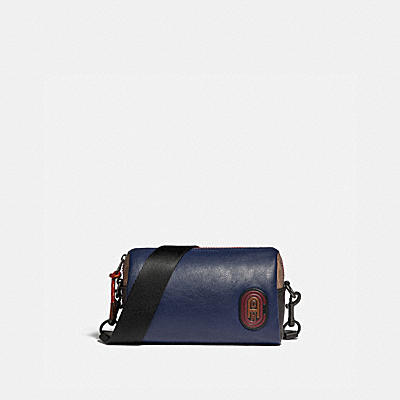PACER CONVERTIBLE DOME IN COLORBLOCK WITH SIGNATURE CANVAS DETAIL AND COACH PATCH