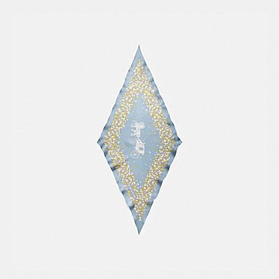 コーチ COACHのホース&キャリッジ |ホース アンド キャリッジ ティー ローズ プリント シルク ダイヤモンド スカーフ