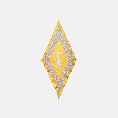 ホース アンド キャリッジ ティー ローズ プリント シルク ダイヤモンド スカーフ