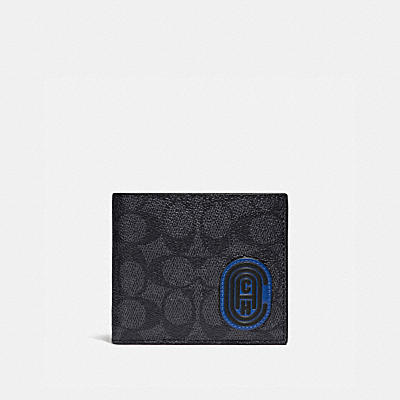 3-IN-1 WALLET IN SIGNATURE CANVAS WITH COACH PATCH