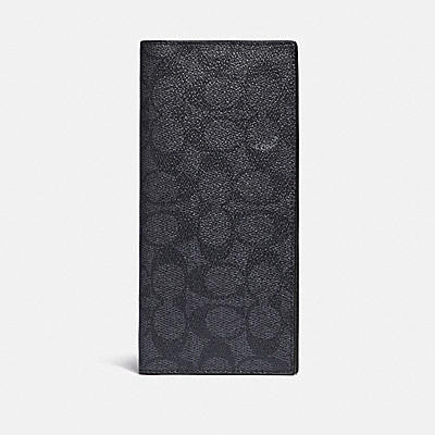コーチ COACHの長財布 |ブレスト ポケット ウォレット シグネチャー キャンバス