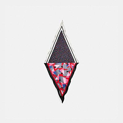 ジオ ドット プリント シルク ダイヤモンド スカーフ