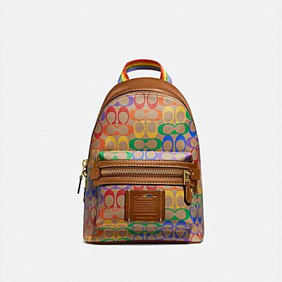 コーチ COACHの全てのメンズバッグ |【オンライン限定】アカデミー パック レインボー シグネチャー キャンバス