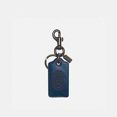 BOTTLE OPENER KEY FOB WITH COACH PATCH