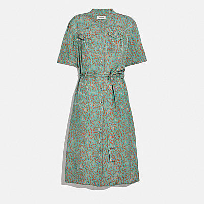 JACQUARD SNAP FRONT DRESS