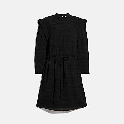 하이웨이스트 미니 드레스