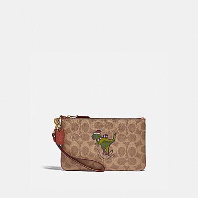 コーチ COACHの財布&革小物 |ボックスド スモール リストレット シグネチャー キャンバス ウィズ レキシー