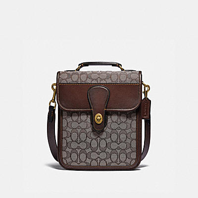 TURNLOCK TAB CROSSBODY IN SIGNATURE JACQUARD