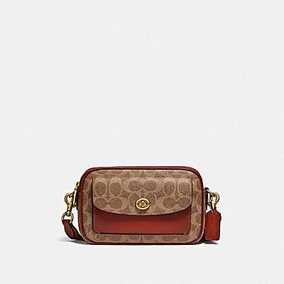 コーチ COACHのバッグ |ウィロウ カメラ バッグ シグネチャー キャンバス