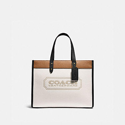 FIELD TOTE 30 IN COLORBLOCK WITH COACH BADGE