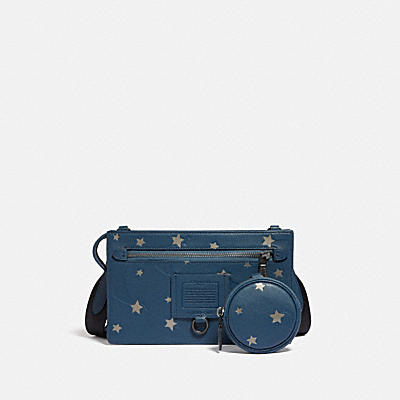 RIVINGTON CONVERTIBLE HYBRID POUCH WITH SHOOTING STAR PRINT