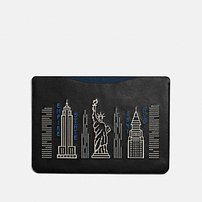 LAPTOP SLEEVE WITH STARDUST CITY SKYLINE