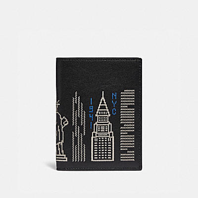 PASSPORT CASE WITH STARDUST CITY SKYLINE