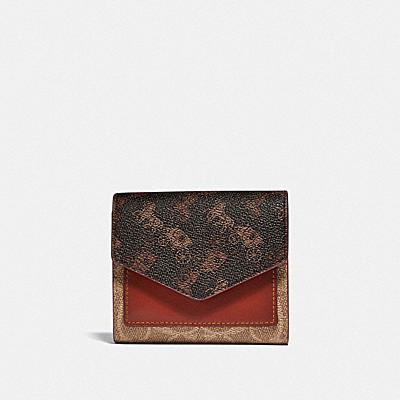 コーチ COACHの財布&革小物 |スモール ウォレット シグネチャー キャンバス ウィズ ホース アンド キャリッジ プリント