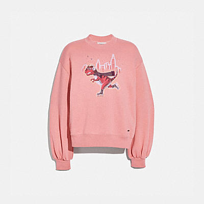 REXY CITY SKYLINE SWEATSHIRT WITH PUFF SLEEVE