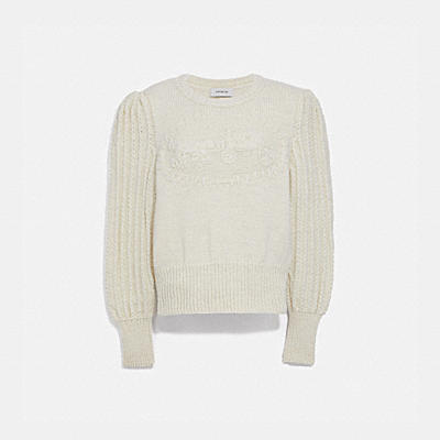 HERITAGE CABLE CREWNECK