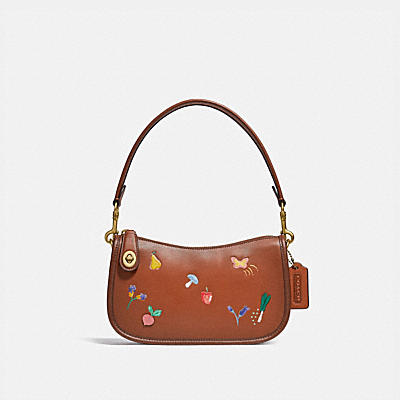 SWINGER BAG WITH GARDEN EMBROIDERY