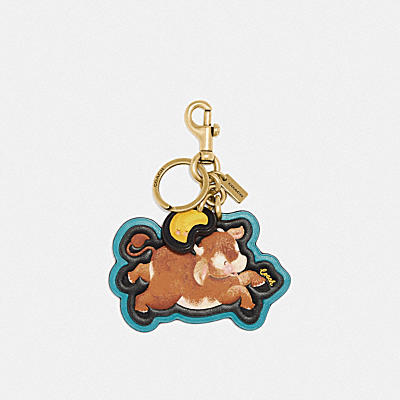 LUNAR NEW YEAR OX BAG CHARM IN SIGNATURE CANVAS