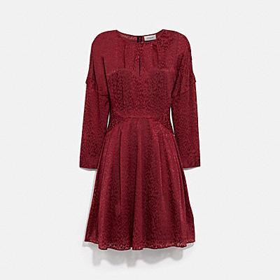 솔리드 데보레 미니 드레스