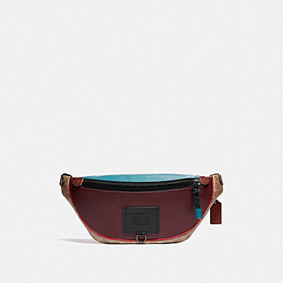 LUNAR NEW YEAR RIVINGTON BELT BAG IN COLORBLOCK SIGNATURE CANVAS