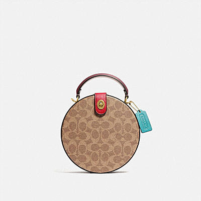 LUNAR NEW YEAR CIRCLE BAG IN SIGNATURE CANVAS