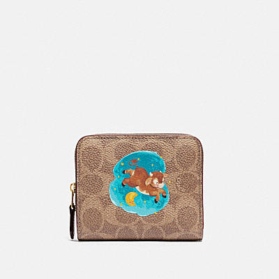 LUNAR NEW YEAR BILLFOLD WALLET IN SIGNATURE CANVAS WITH OX
