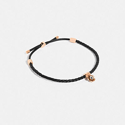 FRIENDSHIP SLIDER BRACELET WITH TEA ROSE CHARM