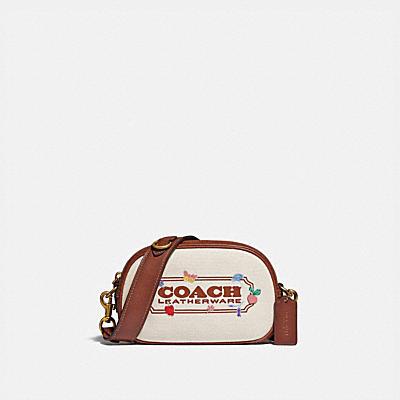 コーチ COACHの新作 |バッジ カメラ クロスボディ ウィズ ガーデン エンブロイダリー コーチ バッジ