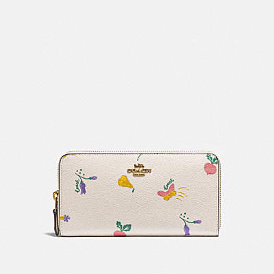 ACCORDION ZIP WALLET WITH GARDEN PRINT